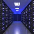3d Modern interior of server room — Stock Photo