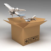 Cardboard boxes 3d illustration — Stock Photo