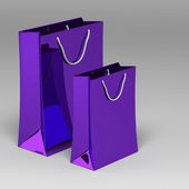 3d 购物袋 — 图库照片