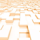 3d Abstract background made of 3d cubes — Stock Photo