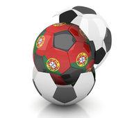 Portugal soccer ball — Stock Photo