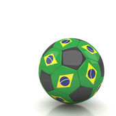 Brazil soccer ball — Stock Photo