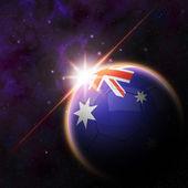 Australia Flag on 3d football ball — Stockfoto