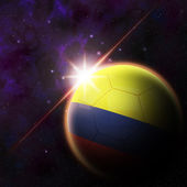 Colombia Flag on 3d football ball — Stockfoto