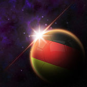 Germany Flag on 3d football ball — Zdjęcie stockowe