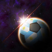 Agentina Flag on 3d football ball — Stock Photo