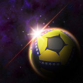 Bosnia herzegovina Flag on 3d football ball — Stock Photo