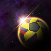 Colombia Flag on 3d football ball — Foto Stock