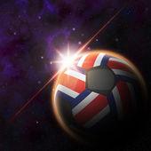Costa Rica Flag on 3d football ball — Stock Photo