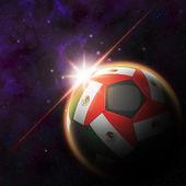 Mexico Flag on 3d football — Stock Photo