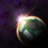 Nigeria Flag on 3d football ball — Foto de Stock