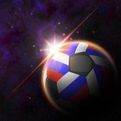 Russia Flag on 3d football ball — Foto de Stock