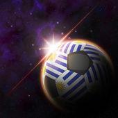 Uruguay Flag 3d football ball — Foto de Stock