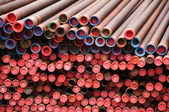 Rusty industrial pipes — Stock Photo