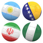 3D soccer balls with group F teams flags — Stock Photo
