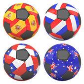 3d piłki nożnej flagami drużyn grupy b — Zdjęcie stockowe