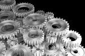 银齿轮 — 图库照片
