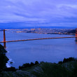 Stock Photo: Golden gate bridge at night