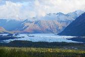 Mountain and glacier — Stock Photo