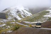 Bus in mountain — Stock Photo