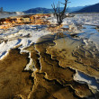 Stock Photo: Hot spring lines
