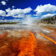 Grand Prismatic Spring color — Stock Photo