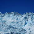 Blue glacier with blue sky — Stock Photo
