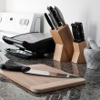 Stock Photo: Kitchen set on granite counter