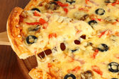 Slice of pizza — Stockfoto