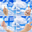 Stockfoto: Set of cloud computing concept