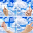 Stock Photo: Set of cloud computing concept