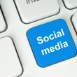 Stock Photo: Social medibutton