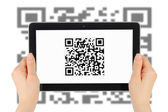Scanning of QR code — Stock Photo
