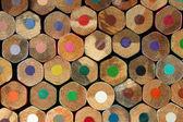 Fondo de lápices de color — Foto de Stock