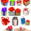 Collage of presents — Stock Photo #13471470