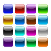 Blank colour web buttons — Stock Photo