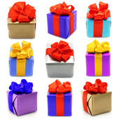Collage of presents — Stock Photo