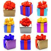 Collage von geschenken — Stockfoto