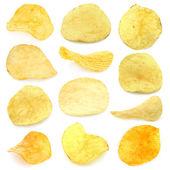 Conjunto de chips de patata — Foto de Stock