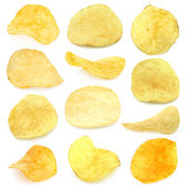 Set of potato chips — Stock Photo