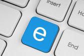 Blue keyboard button — Stock Photo
