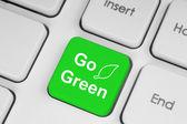 Botón ir verde — Foto de Stock