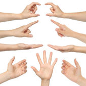 Koláž žena rukou — Stock fotografie