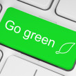 Go green button — Stock Photo