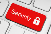 Rode security-knop — Stockfoto