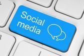 Social media button — Stock Photo
