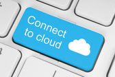 Connect to cloud concept — Stock Photo