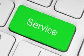 Green service button — Stock Photo
