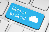 Upload to cloud concept — Stock Photo