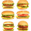 Big hamburgers — Stock Photo #21142285